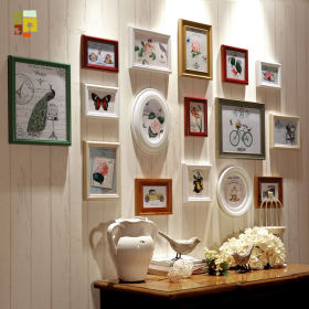 创意时尚混搭风格照片墙效果图欣赏