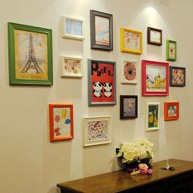 简约时尚风格照片墙设计欣赏
