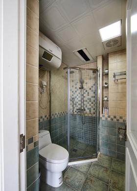 优雅浪漫米色美式风格卫生间装修图