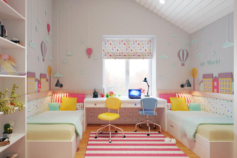 粉色简约可爱公主房装饰图