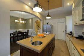 休闲美式风格橙色厨房设计装潢