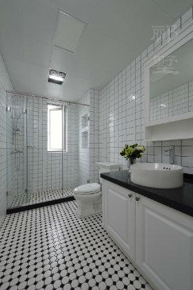 白色精致摩登创意混搭风格卫生间装修
