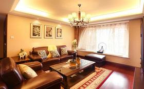 褐色中式风格客厅沙发装饰案例
