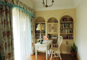 田园风格绿色清新书房窗帘装修