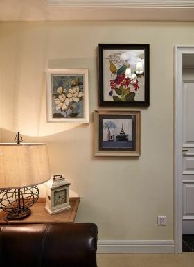 米色美式照片墙装饰设计图片