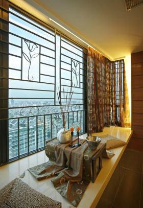 东南亚精致休闲风格2016飘窗设计