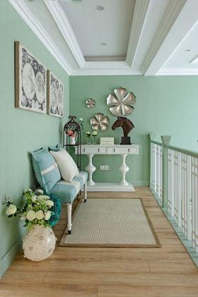 绿色浪漫清爽美式风格阁楼装饰设计图片