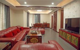 新中式创意混搭风格客厅装潢装饰案例