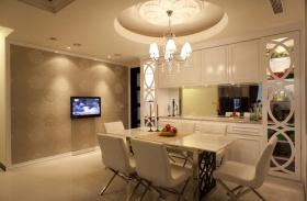 现代混搭风格餐厅吊顶装潢设计