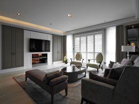 现代风格灰色时尚客厅背景墙装潢案例