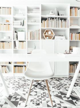 白色极简宜家风格书房装饰设计图片