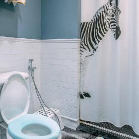蓝色个性简欧风格卫生间装潢案例