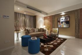现代风格时尚米色客厅装潢