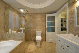 自然清爽美式风格米色卫生间装修