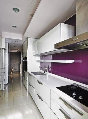 紫色大气清爽简约风厨房图片