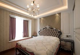 欧式浪漫米色卧室装饰图