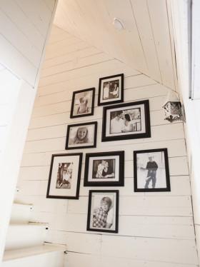 简约风格白色创意照片墙效果图片