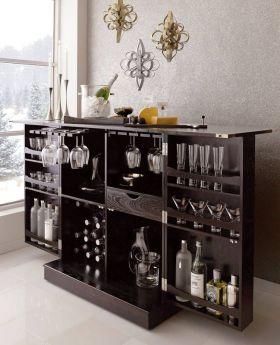 轻奢雅致欧式风格酒柜装修布置
