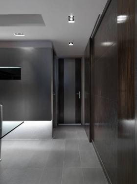时尚大气现代灰色过道装潢设计图