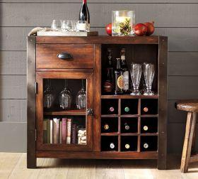 复古雅致混搭风格实木酒柜装饰案例