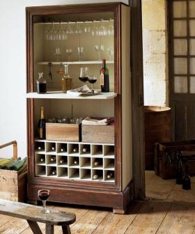 质朴素雅简约酒柜装饰设计图片