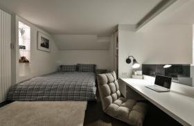 简约风格灰色卧室图片赏析