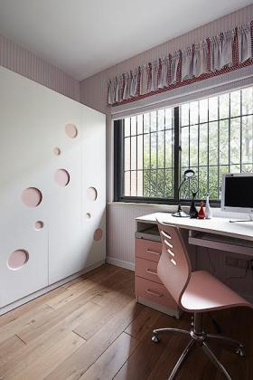 现代米色女孩书房装修效果图片