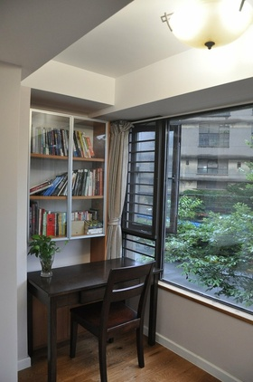 黑色新中式风格书房窗户美图欣赏