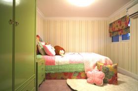浪漫绿色清新混搭儿童房设计