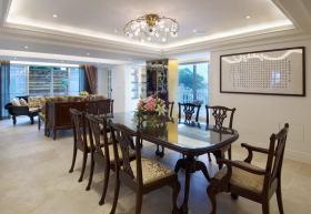 褐色中式风格餐厅装潢案例