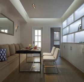 白色简约风格餐厅吊顶设计图片
