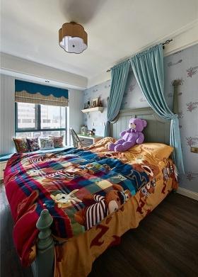 彩色美式风格儿童房设计图