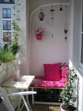 浪漫舒适雅致简约风格阳台装潢