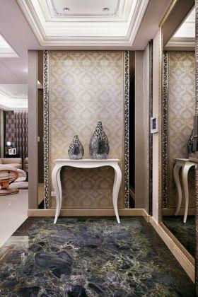 米色新古典风格玄关装修设计