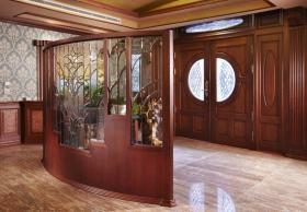红木大气奢华中式风格隔断设计案例