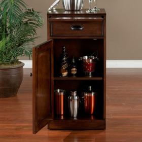 精致简约风格实木酒柜图片