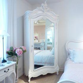 白色欧式风格卧室衣柜图片