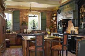 华丽摩登美式风格厨房装潢设计