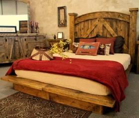 橙色复古美式风格卧室效果图欣赏
