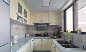 清爽蓝色田园风格厨房欣赏
