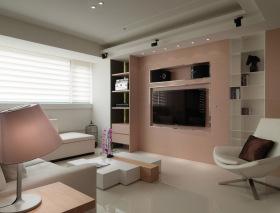 甜美雅致简约粉色背景墙设计欣赏