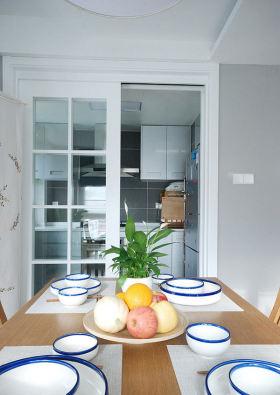 白色清爽宜家风格餐厅设计装潢