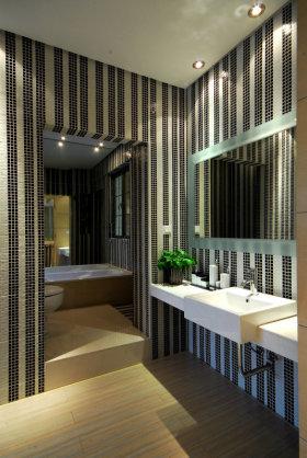 摩登时尚灰色现代卫生间美图赏析