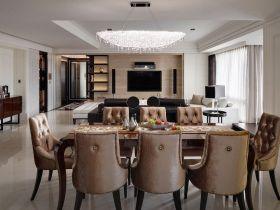 典雅精致简欧风格餐厅效果图设计