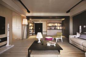 现代风格米色休闲客厅装修图