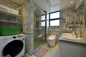 现代混搭风格卫生间效果图设计