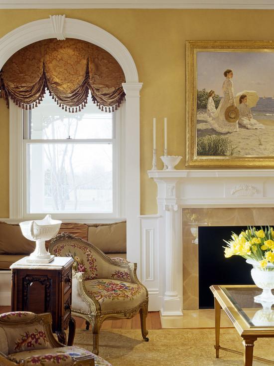 中世纪宫廷风欧式客厅窗帘图片欣赏