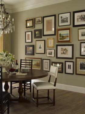 灰色时尚混搭风格照片墙装修设计