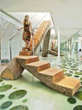 复式楼混搭风格楼梯设计