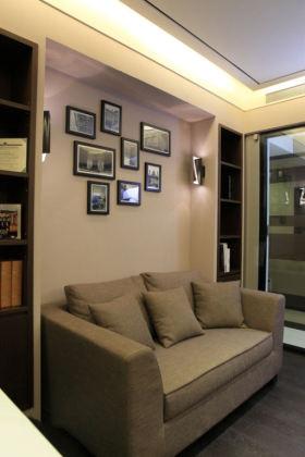 现代大气时尚风格客厅照片墙装潢设计